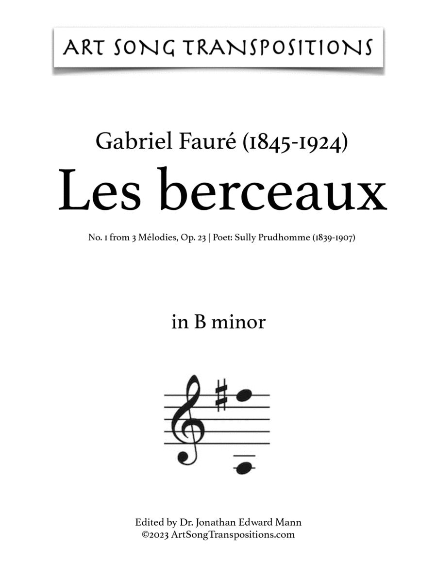 Les Berceaux, Op. 23 no. 1 (B minor)