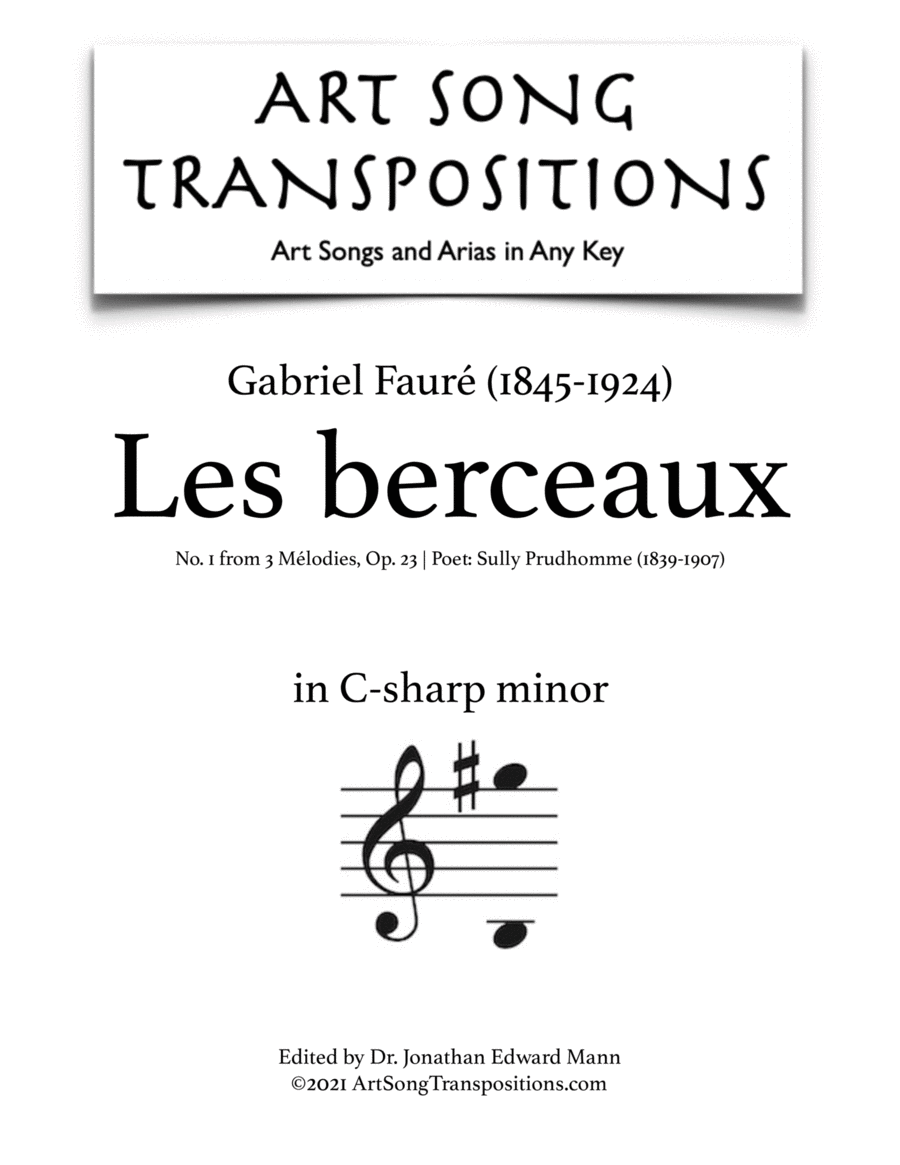 Les berceaux, Op. 23 no. 1 (C-sharp minor)