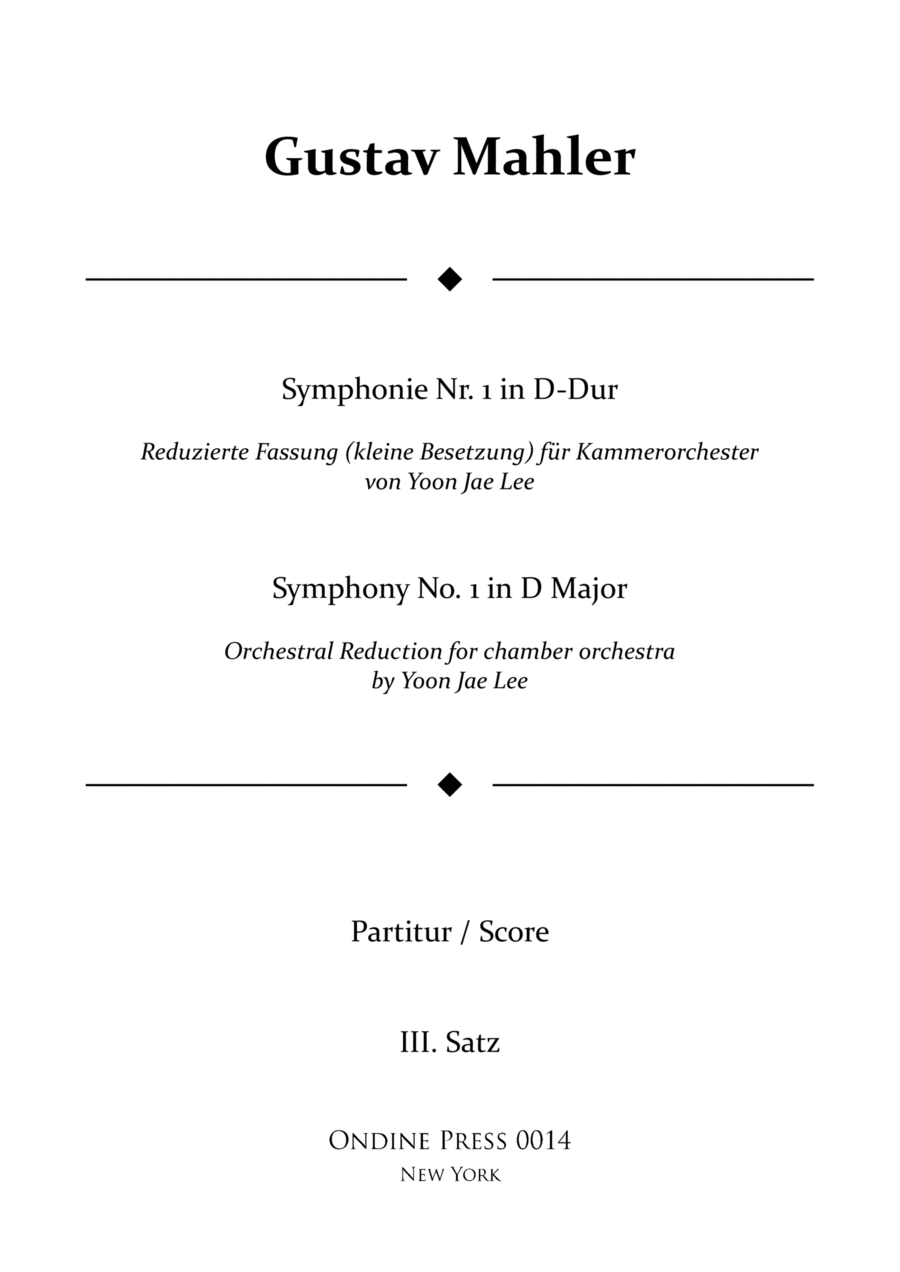 Mahler (arr. Lee): Symphony No. 1 in D Major 3rd movement, Full Score