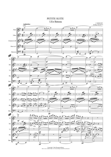 Debussy: Petite Suite (Complete - En bateau, Cortege, Minuet & Ballet) - wind quintet