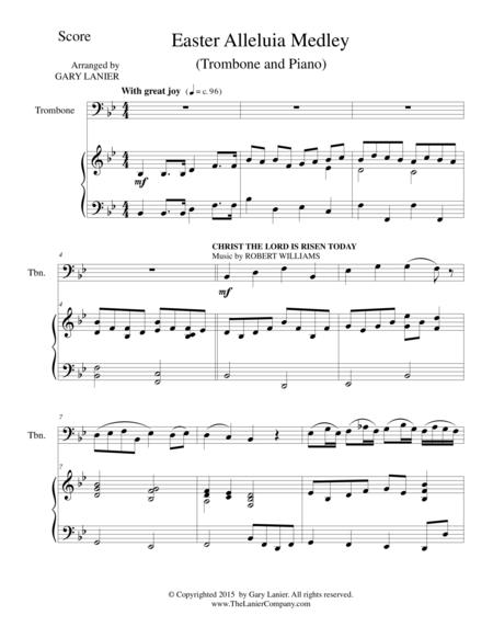 EASTER ALLELUIA MEDLEY (Duet – Trombone/Piano) Score and Trombone Part