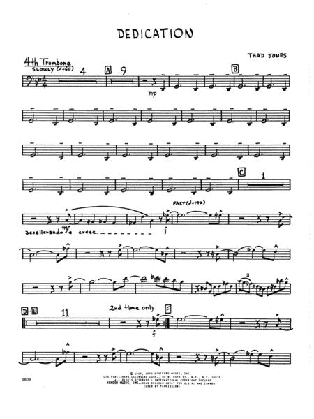 Dedication - 4th Trombone