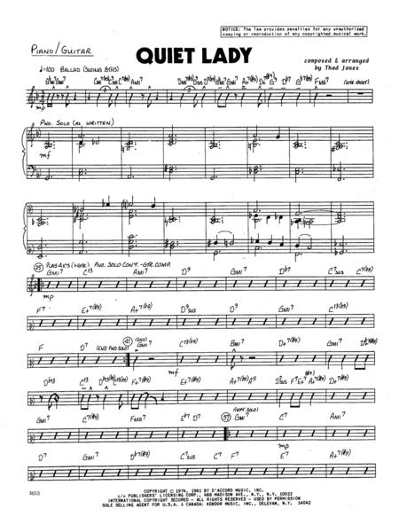 Quiet Lady - Piano