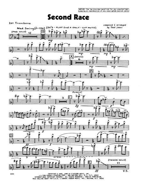 Second Race - 1st Trombone