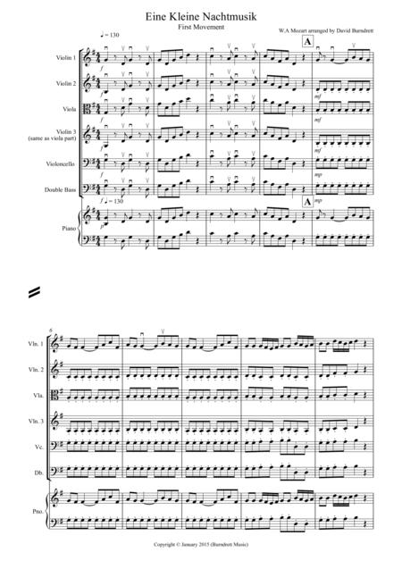 Eine Kleine Nachtmusik (1st movement) for String Orchestra