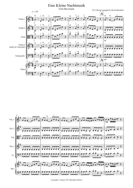 Eine Kleine Nachtmusik (1st movement) for String Quartet