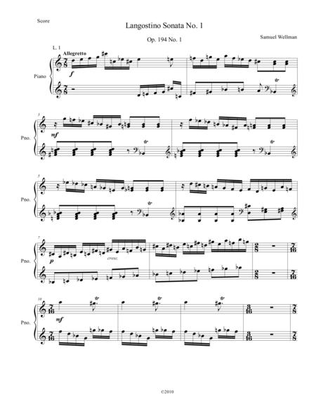 Langostino Sonata No. 1