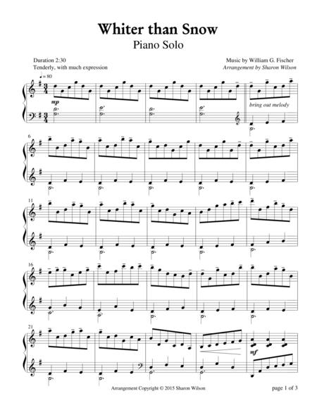 Whiter than Snow (Piano Solo)