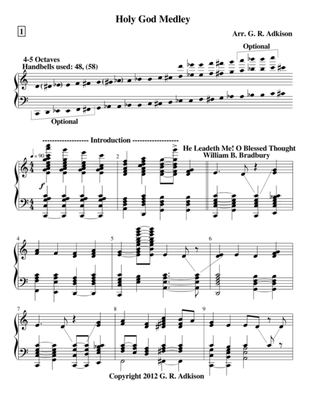 Holy God Medley (for 4 and 5 octave handbell choirs)