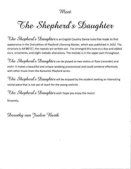 Romantic Playford: The Shepherd's Daughter