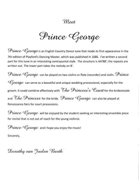 Romantic Playford: Prince George