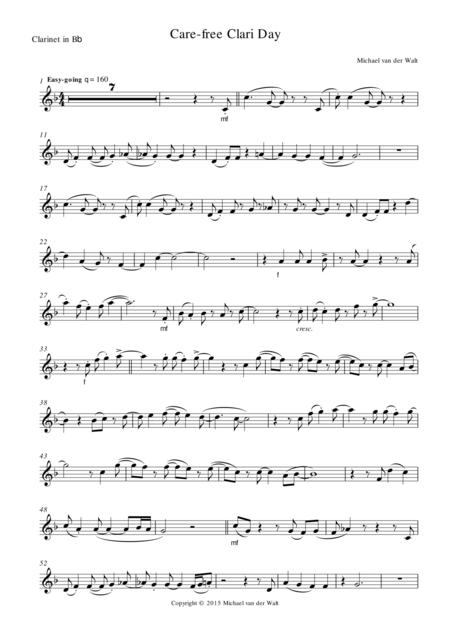 Care-free Clari Day (Clarinet part)