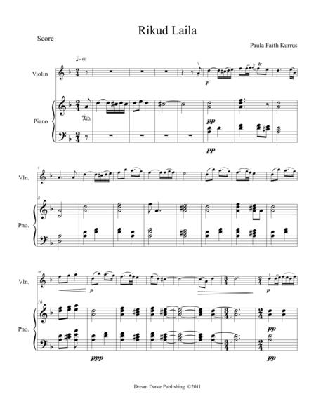 Rikud Laila (violin & piano score)