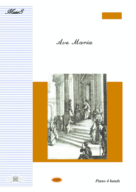 Ave Maria for piano duet 4 hands