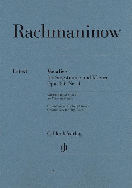 Vocalise Op. 34 No. 14