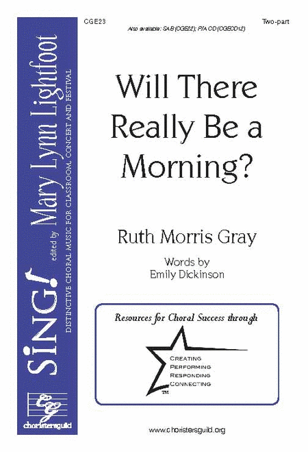 Will There Really Be a Morning? (2-part choir)