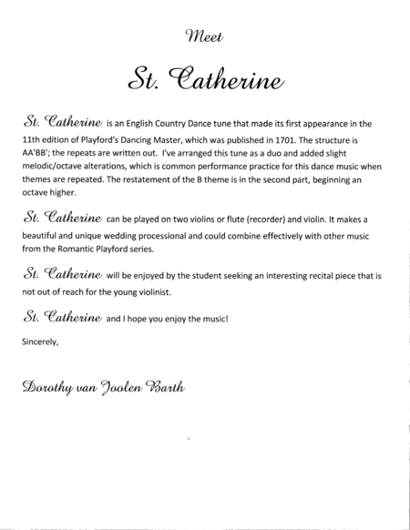 Romantic Playford: St. Catherine