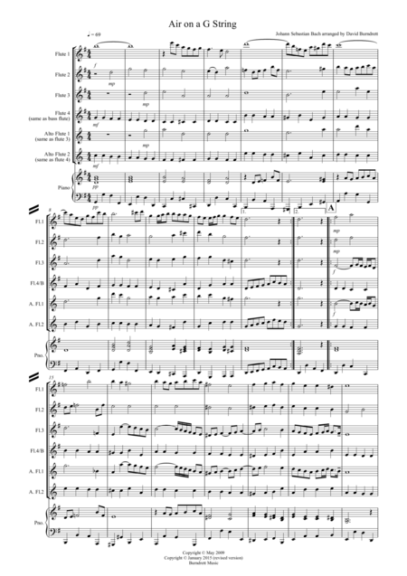 Air on a G String for Flute Quartet