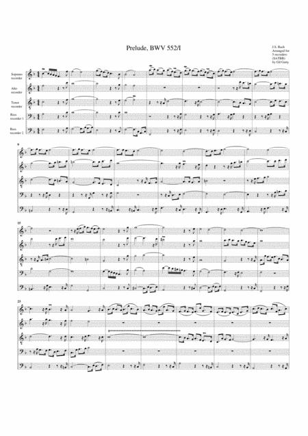 Prelude, BWV 552/I