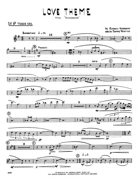 Love Theme From Scheherazade - 1st Bb Tenor Saxophone