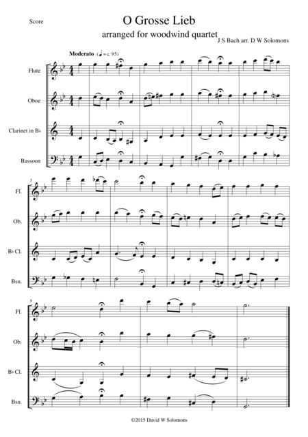 O grosse Lieb for woodwind quartet