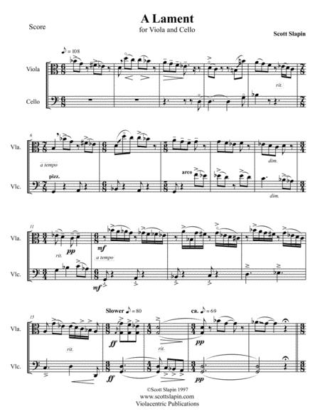 A Lament for Viola and Cello