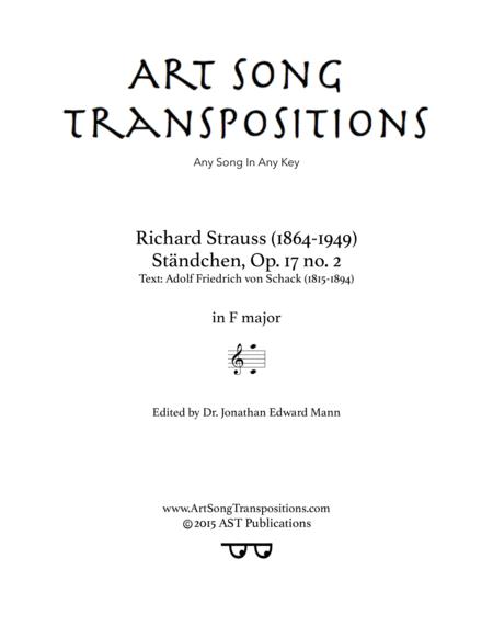 Ständchen, Op. 17 no. 2 (F major)