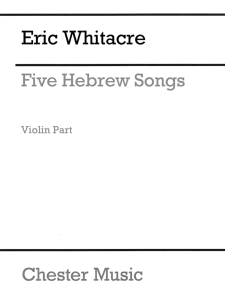 Five (5) Hebrew Love Songs Violin Part (sop/vln/pno)
