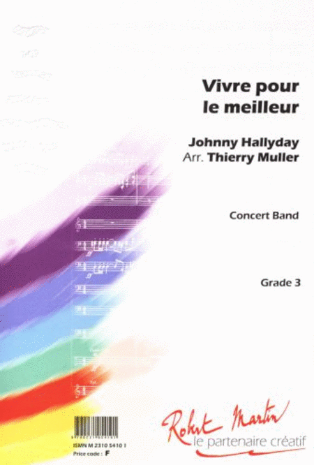 vivre pour le meilleur sheet music by johnny hallyday sheet music plus. Black Bedroom Furniture Sets. Home Design Ideas