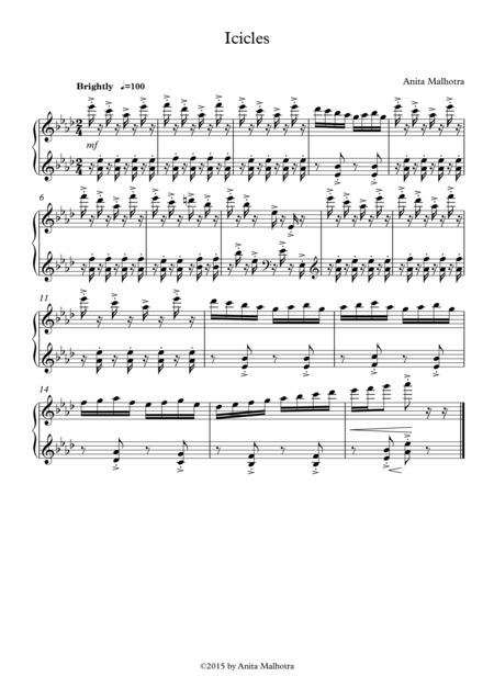Icicles (for Piano)