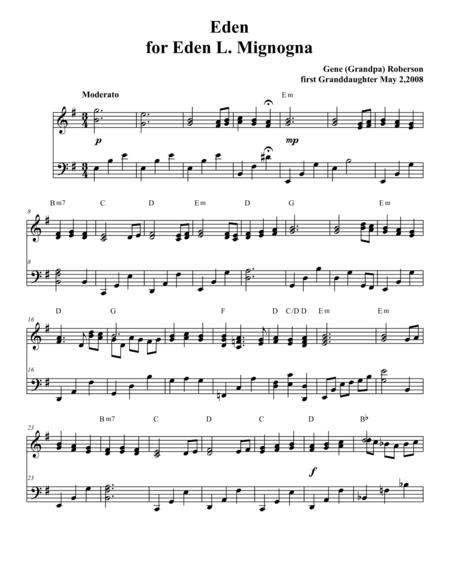 Eden   Piano Solo