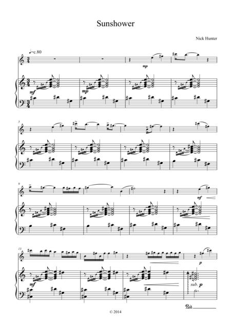 Download Sunshower Sheet Music By Nick Hunter  Sheet Music Plus # Sunshower Song_055027