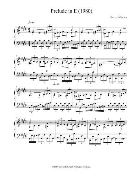 Prelude in E (1980)
