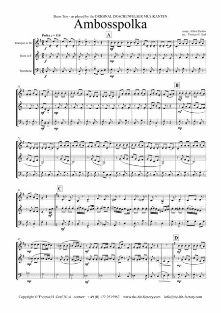 Amboss-Polka - German Polka - Oktoberfest - Brass Trio