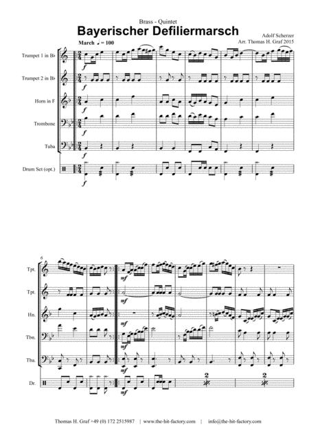 Bayerischer Defiliermarsch - German March - Oktoberfest - Brass Quintet