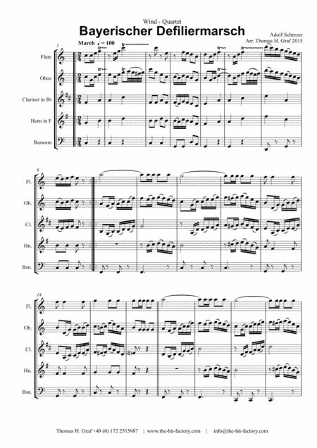 Bayerischer Defiliermarsch - German March - Oktoberfest - Wind Quintet