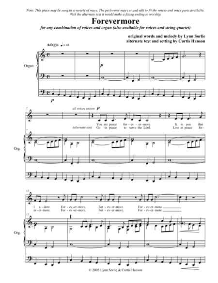 Forevermore (SATB with organ)