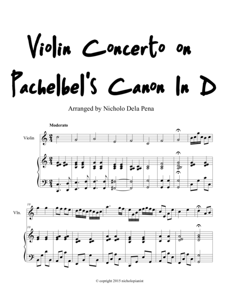 Violin Concerto on Pachelbel's Canon in D