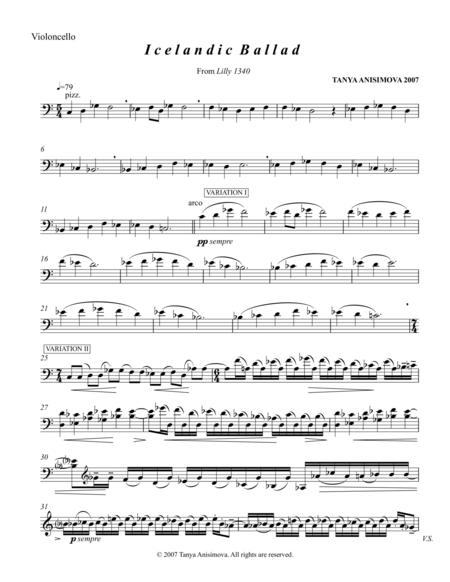 Icelandic Ballad for Cello and Piano, 2007