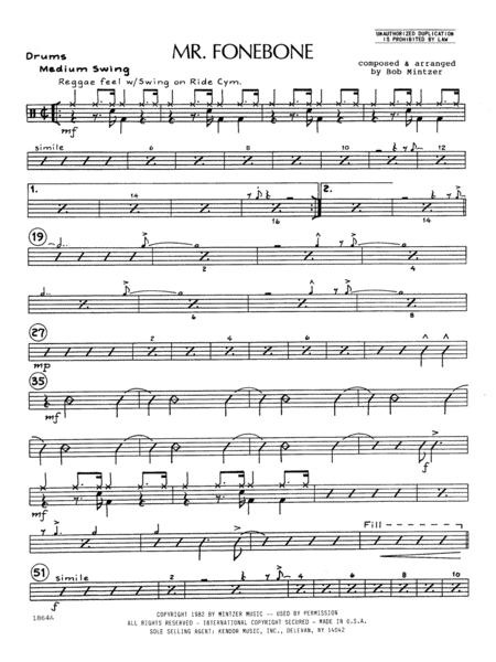 Mr. Fonebone - Drums
