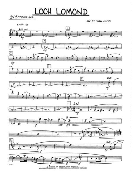 Loch Lomond - 1st Bb Tenor Saxophone