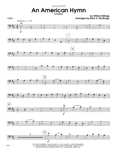 An American Hymn (Chester) - Cello