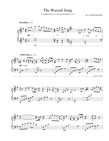 The Wassail Song (Here We Come A-Caroling) - by Brad Jacobsen
