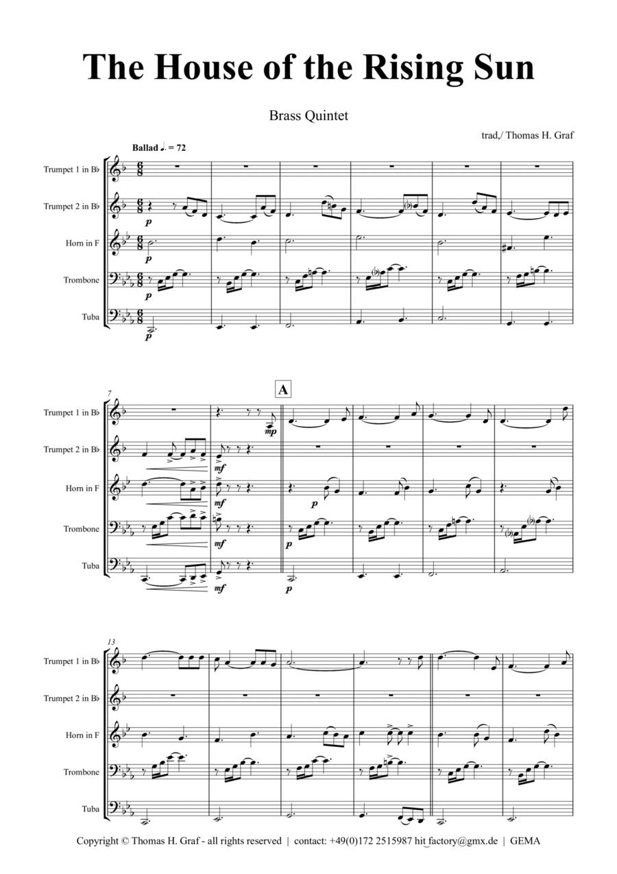 The house of the rising sun - Folk Song - Brass Quintet
