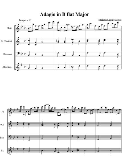 Adagio in B flat Major (Woodwind Ensemble)