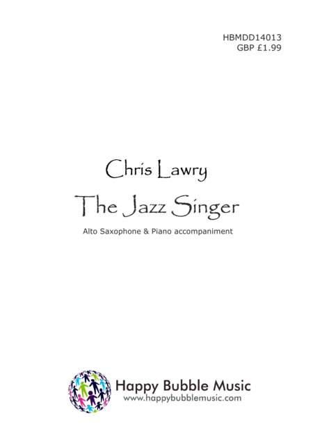 The Jazz Singer - for Alto Saxophone & Piano (from Scenes from a Parisian Cafe)