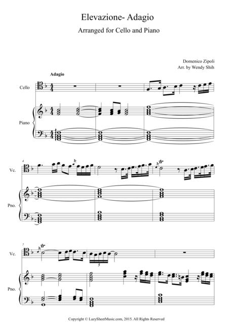 Elevazione- Adagio for Cello and Piano