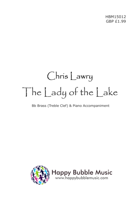 The Lady of the Lake - for Bb Brass [Treble Clef] & Piano (from Scenes from a Parisian Cafe)