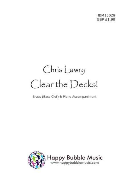 Clear the Decks! - for Low Brass [Bass Clef] & Piano (from Scenes from a Parisian Cafe)