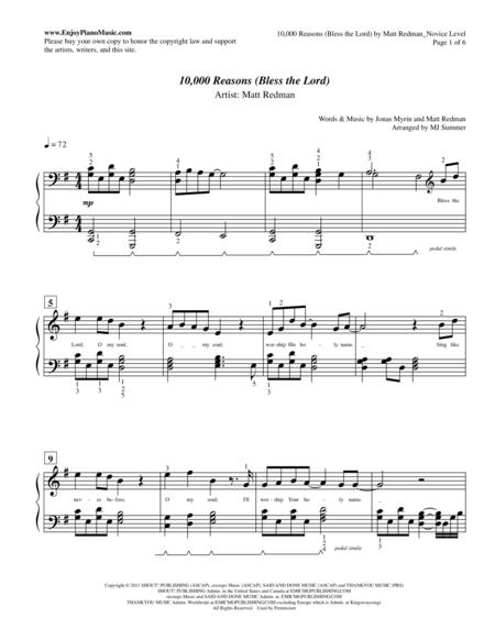 Piano : 10000 reasons piano chords 10000 Reasons Piano Chords : 10000 Reasonsu201a 10000 Reasons ...